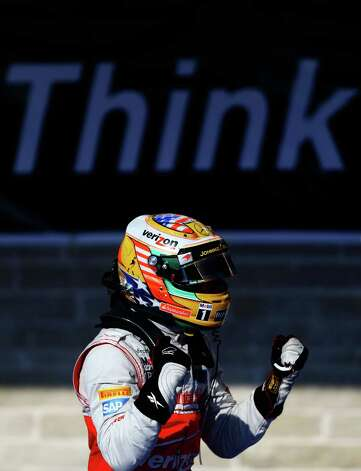 Lewis Hamilton of Great Britain and McLaren celebrates in parc ferme after winning the United States Formula One Grand Prix at the Circuit of the Americas on November 18, 2012 in Austin, Texas. Photo: Paul Gilham, Getty Images / 2012 Getty Images