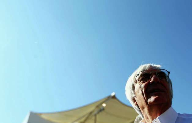 F1 supremo Bernie Ecclestone is seen on the grid before the start of the United States Formula One Grand Prix at the Circuit of the Americas on November 18, 2012 in Austin, Texas. Photo: Paul Gilham, Getty Images / 2012 Getty Images