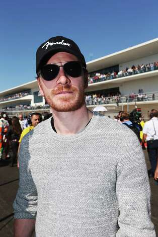 AUSTIN, TX - NOVEMBER 18:  Actor Michael Fassbender attends the United States Formula One Grand Prix at the Circuit of the Americas on November 18, 2012 in Austin, Texas. Photo: Mark Thompson, Getty Images / 2012 Getty Images