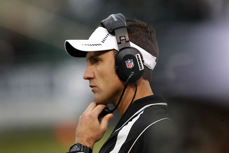 Raiders head coach Dennis Allen watches the closing minutes of the game from the sidelines. The Oakland Raiders played the New Orleans Saints at O.co Coliseum in Oakland, Calif., on Sunday, November 18, 2012. The Saints defeated the Raiders 38-17. Photo: Carlos Avila Gonzalez, The Chronicle