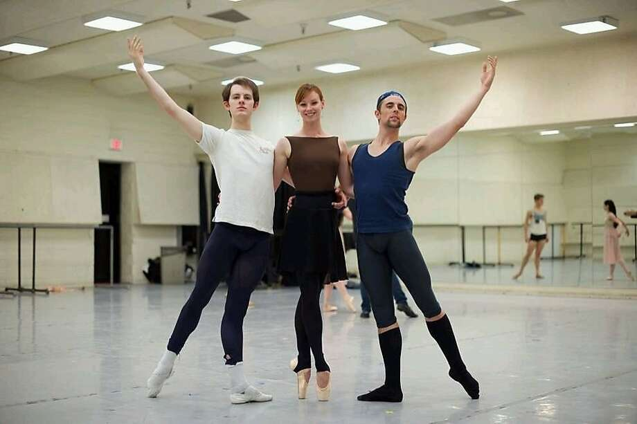 Shane Wuerthner (left), Marie-Claire D'Lyse and Luke Ingham are S.F. Ballet newcomers. Photo: Erik Tomasson