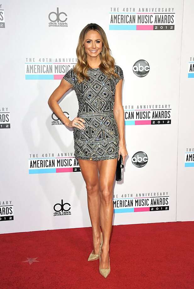 Stacy Keibler arrives at the 40th Anniversary American Music Awards on Sunday, Nov. 18, 2012, in Los Angeles. (Photo by John Shearer/Invision/AP) Photo: John Shearer, Associated Press