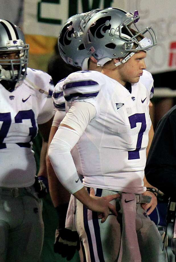Collin Klein's Heisman hopes and Kansas State's national title aspirations took a beating Saturday night. Photo: LM Otero, STF / AP