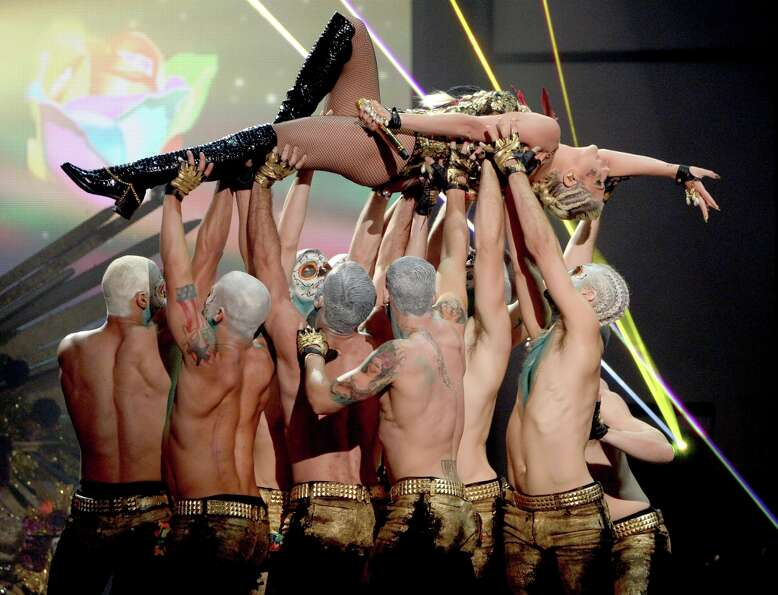 Singer Kesha performs onstage during the 40th American Music Awards held at Nokia Theatre L.A. Live