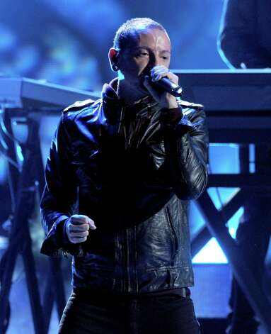 Singer Chester Bennington of Linkin Park performs onstage during the 40th American Music Awards held at Nokia Theatre L.A. Live on November 18, 2012 in Los Angeles, California.  (Photo by Kevin Winter/Getty Images) Photo: Kevin Winter, Getty Images / 2012 Getty Images