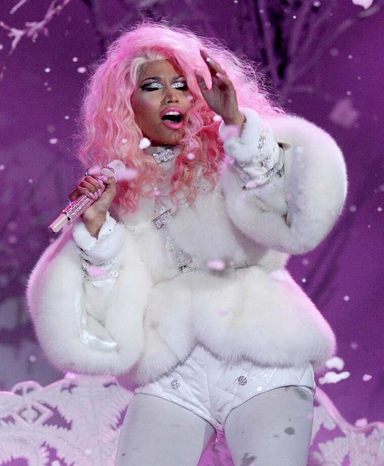 Rapper/singer Nicki Minaj performs onstage during the 40th American Music Awards held at Nokia Theatre L.A. Live on November 18, 2012 in Los Angeles, California.  (Photo by Kevin Winter/Getty Images) Photo: Kevin Winter, Getty Images / 2012 Getty Images