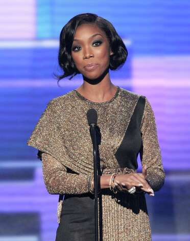 Presenter Brandy speaks onstage during the 40th American Music Awards held at Nokia Theatre L.A. Live on November 18, 2012 in Los Angeles, California.  (Photo by Kevin Winter/Getty Images) Photo: Kevin Winter, Getty Images / 2012 Getty Images