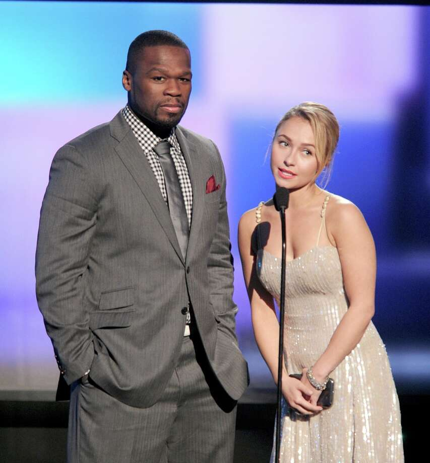 "(L-R) Presenters Curtis ""50 Cent"" Jackson and Hayden Panettiere speak onstage during the 40th American Music Awards held at Nokia Theatre L.A. Live on November 18, 2012 in Los Angeles, California.  (Photo by Kevin Winter/Getty Images) Photo: Kevin Winter, Getty Images / 2012 Getty Images"