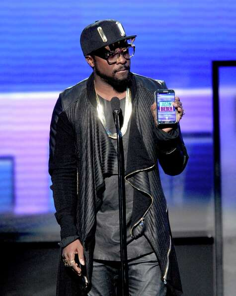 Presenter will.i.am speaks onstage during the 40th American Music Awards held at Nokia Theatre L.A.