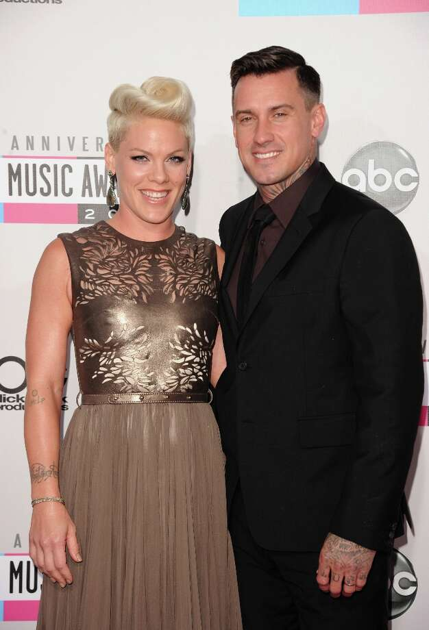 Singer Pink and athlete Carey Hart attend the 40th American Music Awards held at Nokia Theatre L.A. Live on November 18, 2012 in Los Angeles, California.  (Photo by Jason Merritt/Getty Images) Photo: Jason Merritt, Getty Images / 2012 Getty Images