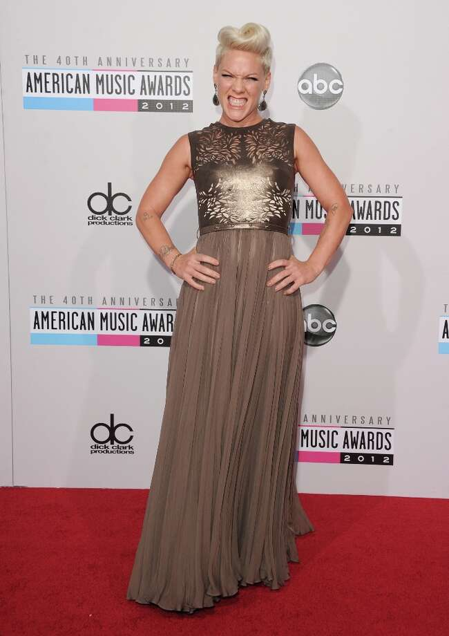 Singer Pink attends the 40th American Music Awards held at Nokia Theatre L.A. Live on November 18, 2012 in Los Angeles, California.  (Photo by Jason Merritt/Getty Images) Photo: Jason Merritt, Getty Images / 2012 Getty Images