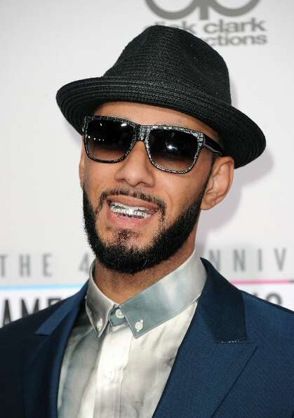 Rapper Swizz Beatz attends the 40th American Music Awards held at Nokia Theatre L.A. Live on Novembe