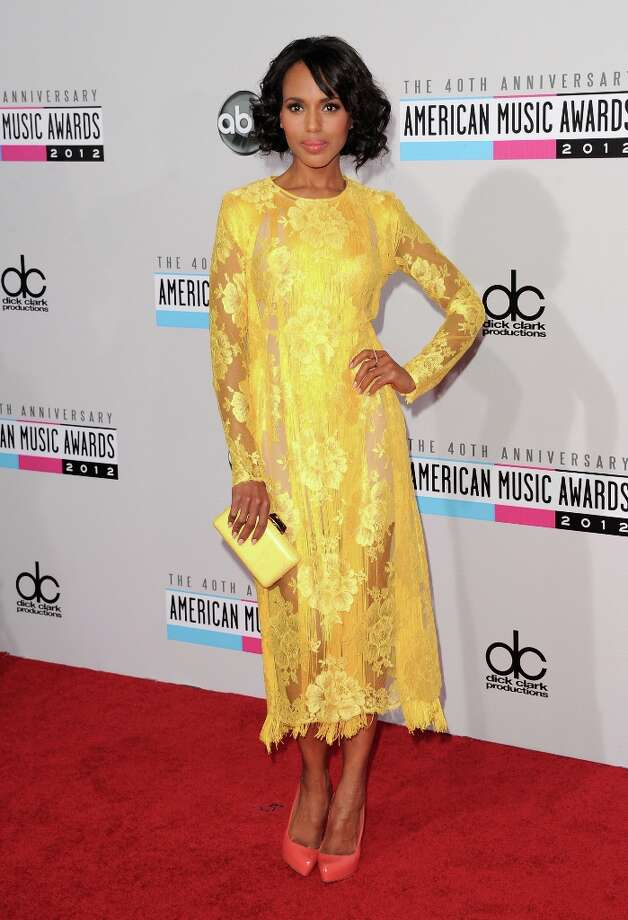Actress Kerry Washington attends the 40th American Music Awards held at Nokia Theatre L.A. Live on November 18, 2012 in Los Angeles, California.  (Photo by Jason Merritt/Getty Images) Photo: Jason Merritt, Getty Images / 2012 Getty Images