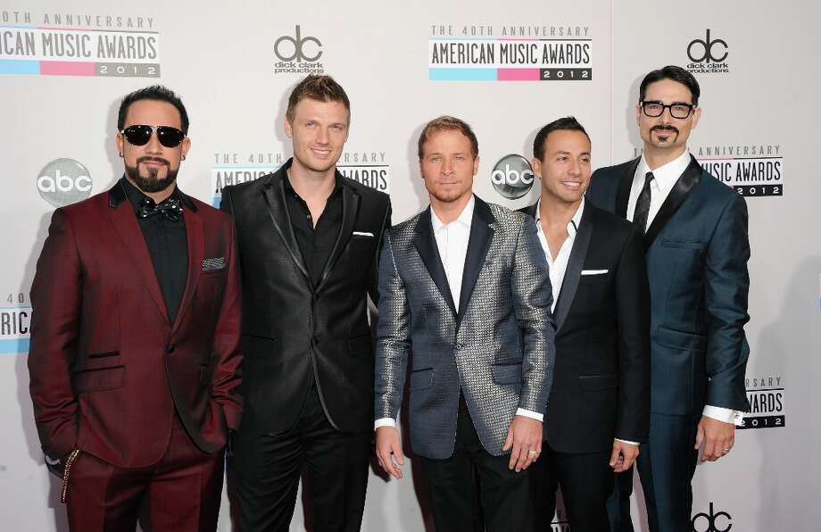 (L-R) Singers A.J. McLean, Howie Dorough, Brian Littrell, Nick Carter, and Kevin Richardson of Backstreet Boys attend the 40th American Music Awards held at Nokia Theatre L.A. Live on November 18, 2012 in Los Angeles, California.  (Photo by Jason Merritt/Getty Images) Photo: Jason Merritt, Getty Images / 2012 Getty Images
