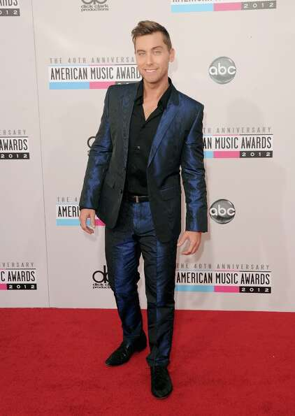 Singer Lance Bass attends the 40th American Music Awards held at Nokia Theatre L.A. Live on November