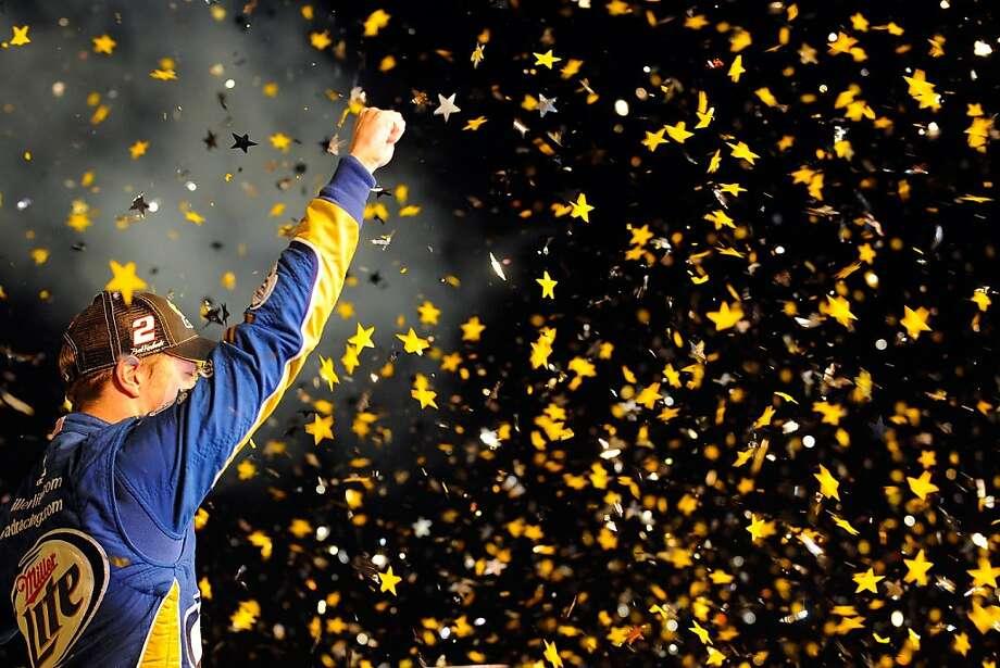 HOMESTEAD, FL - NOVEMBER 18:  Brad Keselowski, driver of the #2 Miller Lite Dodge, celebrates in Champion Victory Lane after winning the series championship and finishing in fifteenth place for the NASCAR Sprint Cup Series Ford EcoBoost 400 at Homestead-Miami Speedway on November 18, 2012 in Homestead, Florida.  (Photo by Jared C. Tilton/Getty Images for NASCAR) Photo: Jared C. Tilton, Getty Images For NASCAR