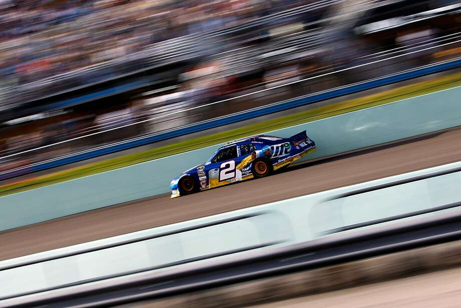 HOMESTEAD, FL - NOVEMBER 18:  Brad Keselowski drives the #2 Miller Lite Dodge during the NASCAR Sprint Cup Series Ford EcoBoost 400 at Homestead-Miami Speedway on November 18, 2012 in Homestead, Florida.  (Photo by Tom Pennington/Getty Images) Photo: Tom Pennington, Getty Images