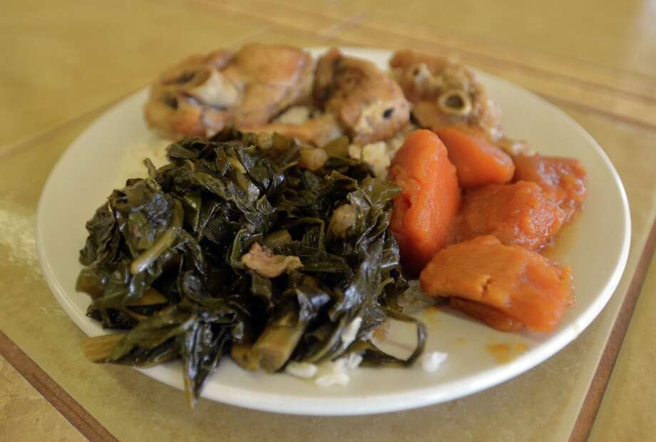 Turkey wings, greens and yams at Rosie's Soul Food in Old Town. Beth Rankin/cat5 Photo: Beth Rankin / Beth Rankin