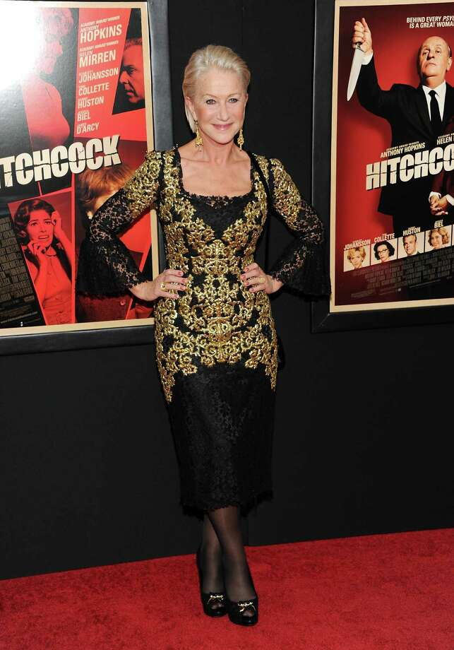 "Helen Mirren attends the premiere for ""Hitchcock"" at the Ziegfeld Theatre on Sunday Nov. 18, 2012 in New York. Photo: Evan Agostini, Evan Agostini/Invision/AP / Invision"