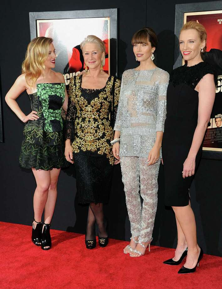 "Actresses Scarlett Johansson, left, Helen Mirren, Jessica Biel and Toni Collette attend the premiere for ""Hitchcock"" at the Ziegfeld Theatre on Sunday Nov. 18, 2012 in New York. Photo: Evan Agostini, Evan Agostini/Invision/AP / Invision"