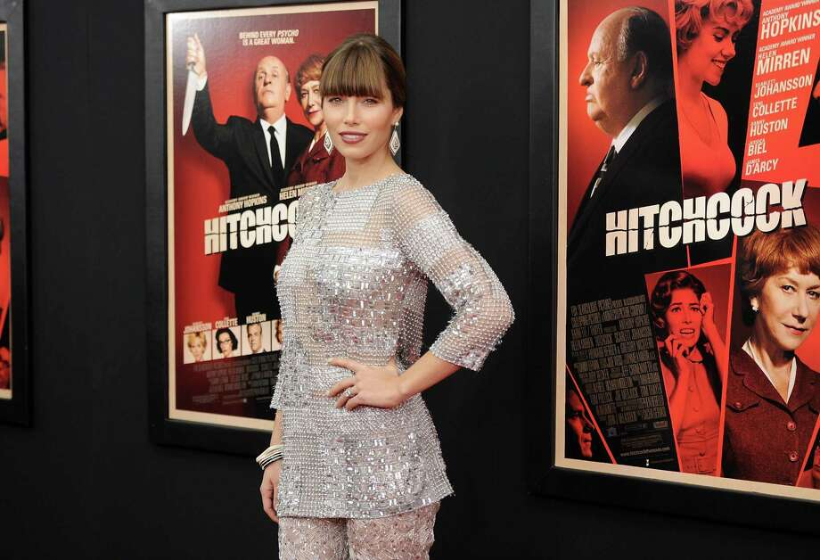 "Actress Jessica Biel attends the premiere for ""Hitchcock"" at the Ziegfeld Theatre on Sunday Nov. 18, 2012 in New York. Photo: Evan Agostini, Evan Agostini/Invision/AP / Invision"
