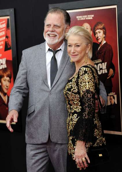 Helen Mirren and her husband Taylor Hackford attend the premiere for