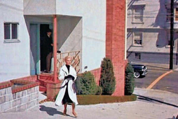 "The Lombard Street home now owned by Hanna and Sandy Suleiman is famous for its appearance in ""Vertigo."""