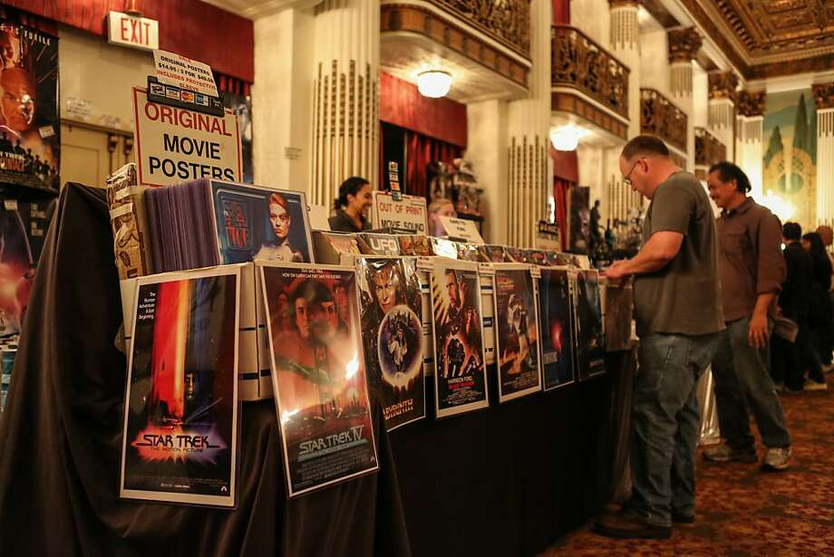 Vendors inside the Colonial Ballroom offered memorabilia from the Star Trek series including original posters during the Official Star Trek Convention in San Francisco at the Westin St. Francis. Photo: Rashad Sisemore, The Chronicle