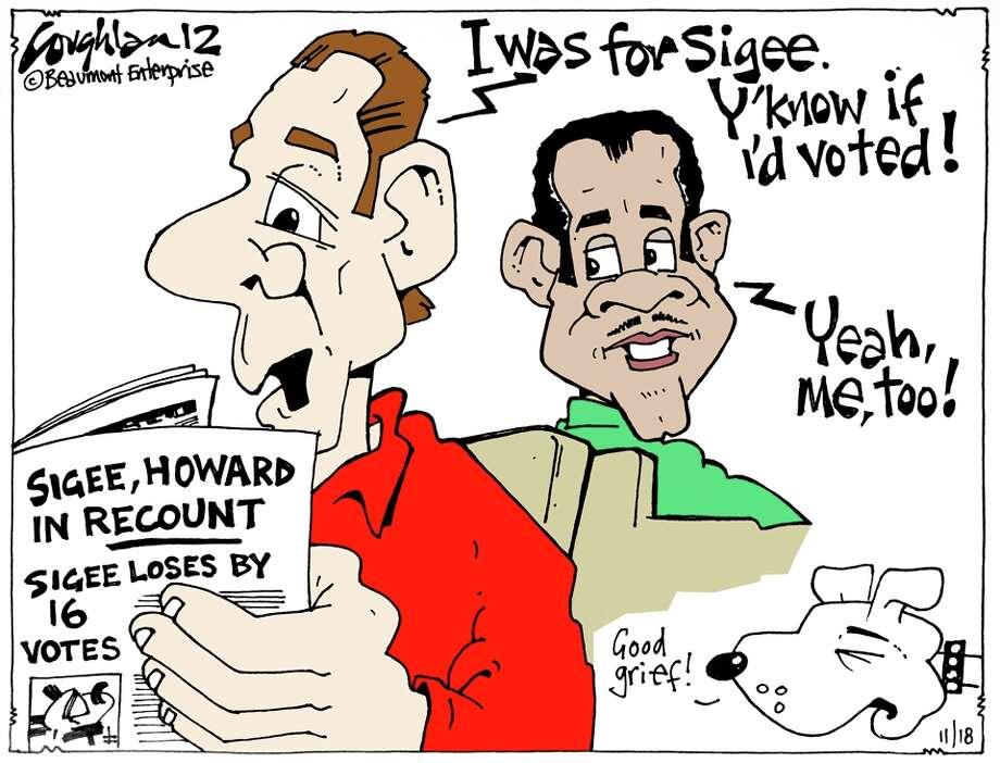 Andy Coughlan's cartoon for Sunday, November 18, 2012.