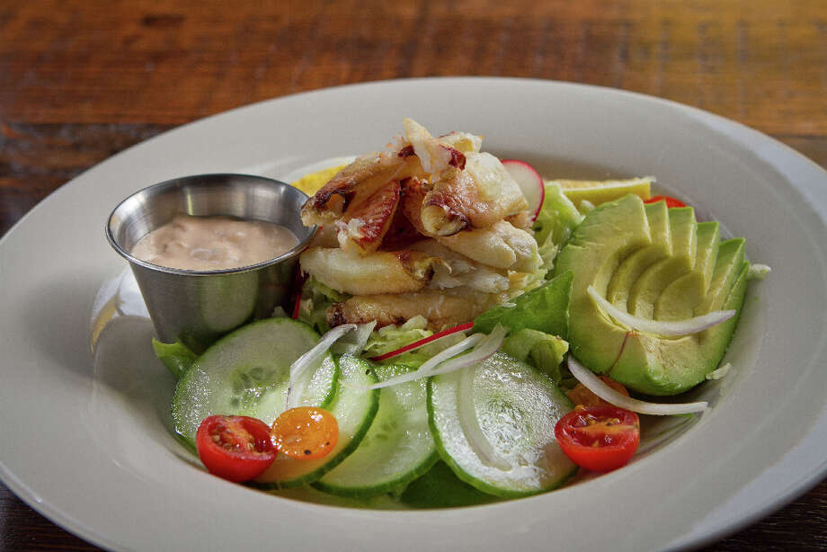 """""""The Classic Crab Louie ($17) is another pleasant option, with picked crab on a pile of shredded lettuce enhanced with little pearls of capers and shaved red onion that seem to infuse every bite of the vinaigrette-soaked leaves."""" Photo: John Storey, Special To The Chronicle / John Storey"""