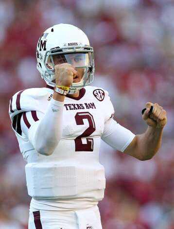 For anyone in college football nation who didn't know about Johnny Manziel, they did after Texas A&M beat top-ranked Alabama 29-24 in Tuscaloosa on Nov. 10, 2012. Manziel passed for 253 yards and two touchdowns with no interceptions and also ran for 92 yards.