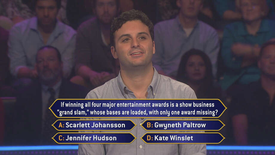 "Danbury native Rob Vitolo takes on a question about Kate Winslet on ""Who Wants To Be A Millionaire,"" airing Tuesday, Nov. 20. Photo: Contributed Photo"
