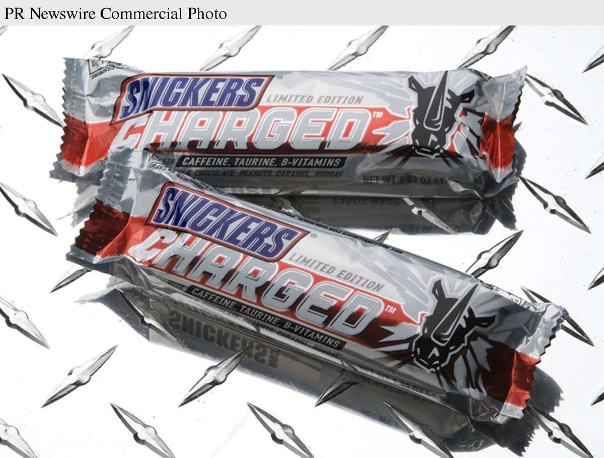 Snickers Charged was another limited-release candy bar that contained 60 mg of caffeine, plus taurine and B vitamins. The product is offered at Amazon.com, but there doesn't seem to be any in stock.