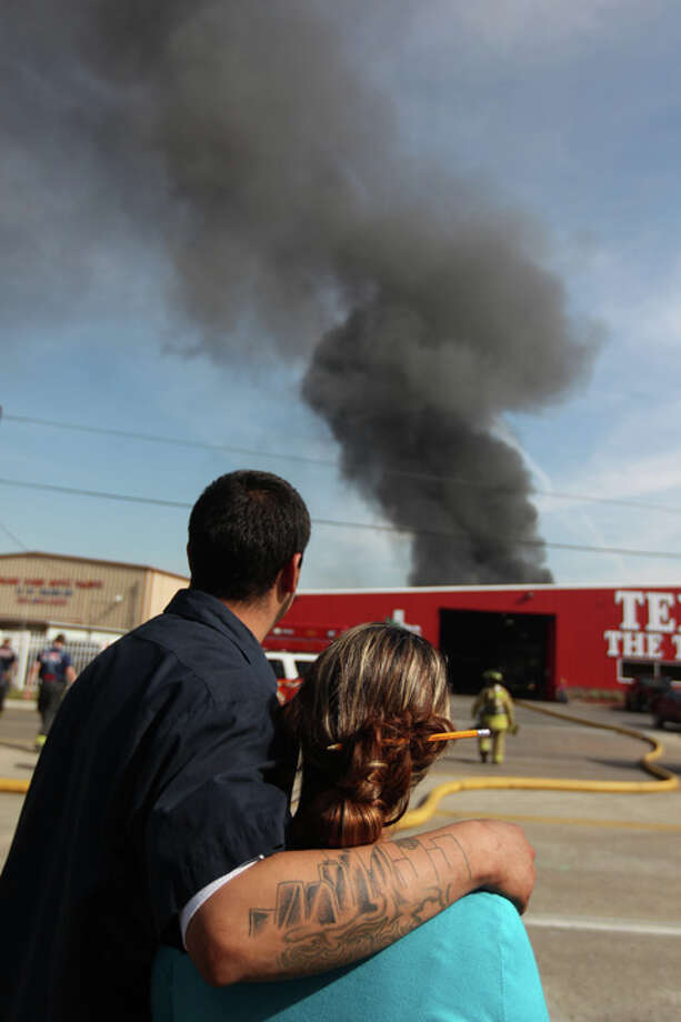 Yulia Martinez and Victor Juarez saw the smoke and made sure no relatives were affected. Photo: .