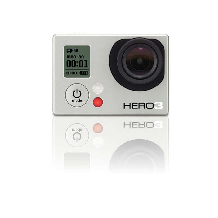 Tech Gifts - GoPro HERO3: White Edition Camcorder: BMX bandits, skate rats and other action sport enthusiasts just got a lighter, more advanced camcorder to record their every extreme move. The HERO3: White Edition weights in at a feather-light 2.6 ounces and is 30 percent smaller than the original HD HERO. It shoots 1030p resolution at 30 fps (frames per second) and 720p at 60 fps for sharp action. Plus it rocks built-in Wi-Fi that works with a special remote (sold separately) and the GoPro app. $199.99. Photo: Handout, Express-News