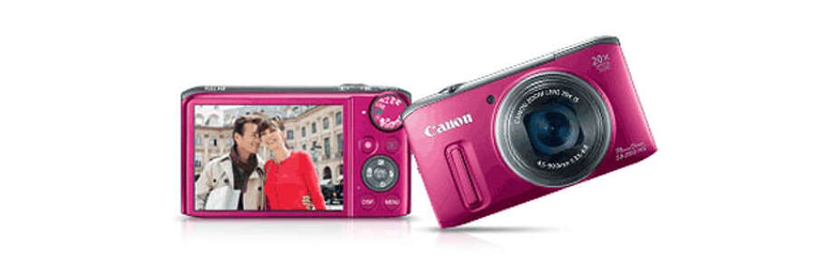 Gifts for Mom -The red Canon PowerShot is a great gift for mom because it has a powerful zoom lens and video capability. Photo: Express-News