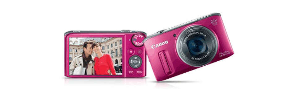 Gifts for Mom - The red Canon PowerShot is a great gift for mom because it has a powerful zoo