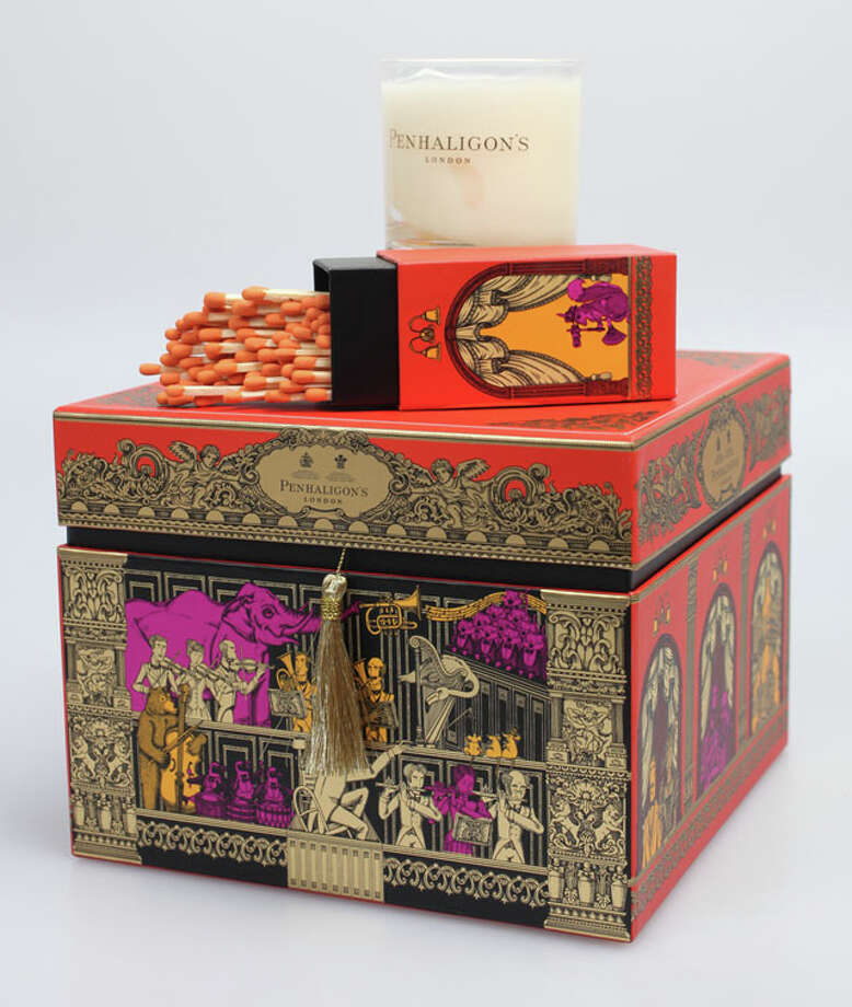 Luxury Gifts- Penhaligon's of London perfumed Neroli classic candle in a keepsake artistic box that includes elegant matches, $65, from Saks Fifth Avenue at North Star Mall. Juanito M. Garza/Express-News Photo: Juanito M Garza, Express-News / San Antonio Express-News