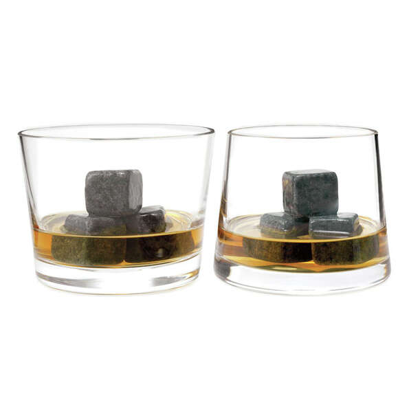 Gifts for Dad - Whiskey Stones gift set: These whiskey stones (faux ice cubes milled from nat