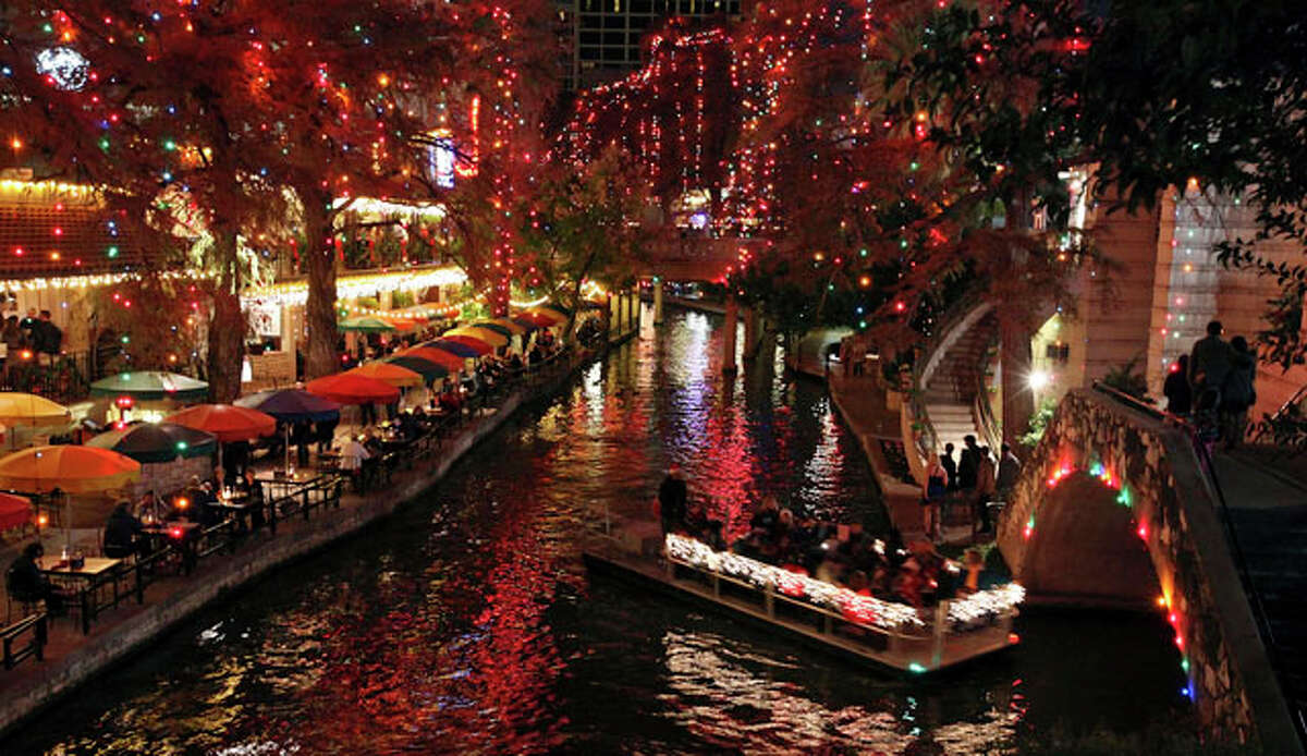 See the Riverwalk light display by river barge Sure, you can stroll through the Riverwalk pathways to see the lights, but a ride on the water makes things a little more magical, especially with the fleet of new boats. There are different options for what you can do on one of the barges, too. Schedule a dinner on board, sing carols or just sit back and relax beneath the twinkling lights on a guided tour.