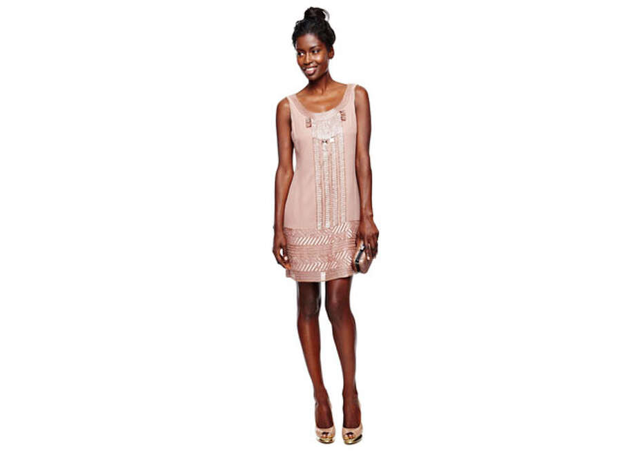 Party Fashion- Retro tank dress from Worthington, $75, JC Penney. Photo: Express-News