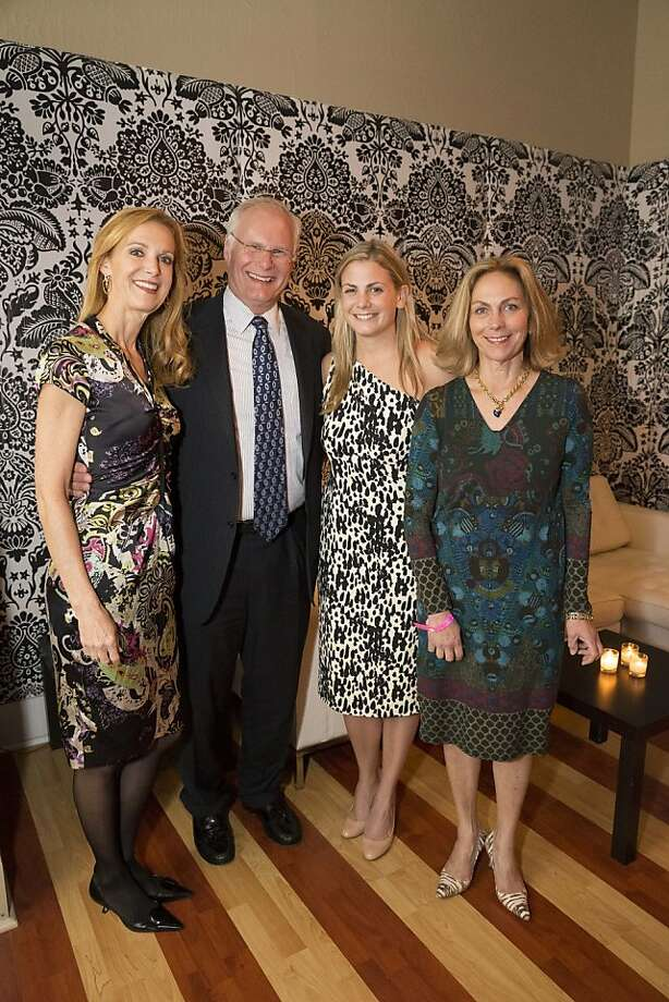 "Katie Budge, Mark Laret,  and co-chairs Bailey Locke and Lisa Gruber.  Locke said she became interested in joining Infusion after her father ended up at UCSF for a bone marrow transplant. ""I saw the care given to him,"" she said, ""and I decided to join."" Photo: Drew Altizer Photography"