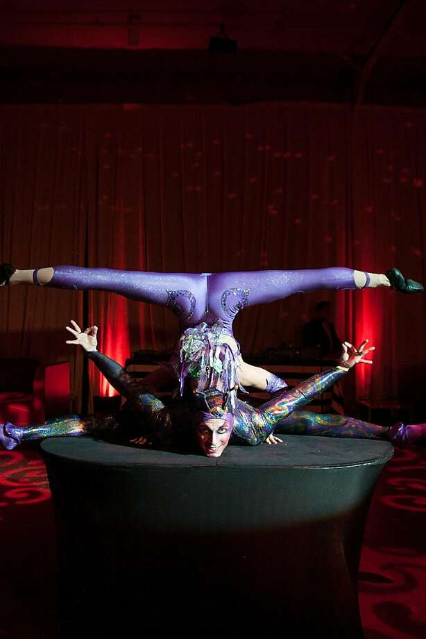 Flexibility is an important ingredient in a successful hospital stay -- and also while performing at Cirque du Soiree. Photo: Drew Altizer Photography