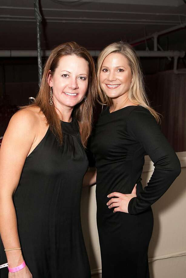 Stephanie Martin and Michaela Wilkinson are among the 100 guests who attended the first fundraiser for UCSF's Infusion. Photo: Drew Altizer Photography