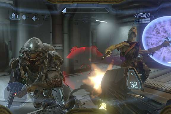 """In an undated handout image, a scene from the video game """"Halo 4."""" A superior video game, like the new """"Halo 4"""" or """"Call of Duty: Black Ops II,"""" is more like chess with firepower than violent mayhem. (Activision via The New York Times) -- NO SALES; FOR EDITORIAL USE ONLY WITH STORY SLUGGED VIDEO GAMES SHOOTING BY STEPHEN TOTILO. ALL OTHER USE PROHIBITED. --"""