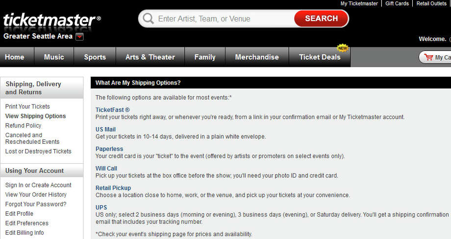 Ticketmaster: We completely agree with Consumer Reports on this one. Ticketmaster will mail you your tickets for free -- in 10 to 14 days. But printing your tickets using TicketFast costs $2.50 per ticket. There's no way it costs Ticketmaster more than mailing tickets. It's just a money grab because they know people will choose the option out of convenience, or necessity if an event is less than two weeks away. Photo: Ticketmaster
