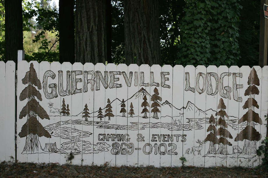 A fence outside the Guerneville Lodge.  A fire early Monday morning at the Russian River resort injured 6 people. Photo: Douglas Zimmerman