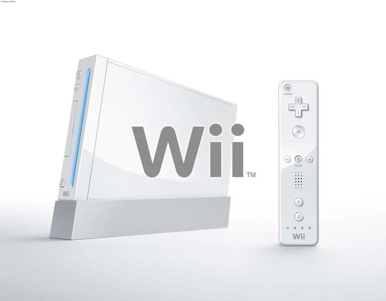 Nintendo unveiled games for its upcoming Wii video game console, pictured here, during the Electroni