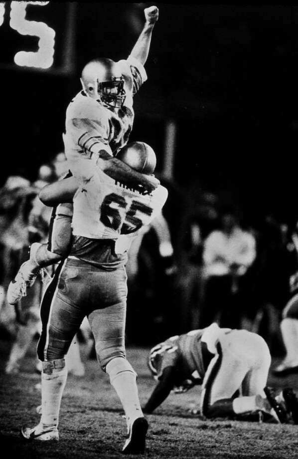 1984: Doug Flutie  School: Boston College Position: QB  Class: Senior Photo: JOE RIMKUS JR, AP / MIAMI HERALD