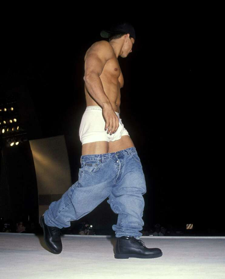 I can show off my underwear and walk down the runway at the same time! It's Mark Wahlberg at a benefit fashion show in honor of Calvin Klein in 1993.  Photo: Ron Galella, Ltd., WireImage / 1993 Ron Galella, Ltd.
